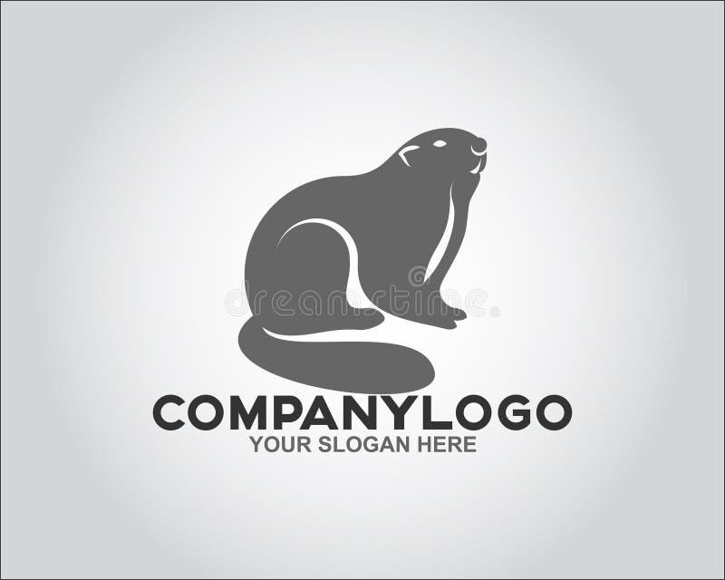 面孔啮齿目动物商标概念 免版税库存照片