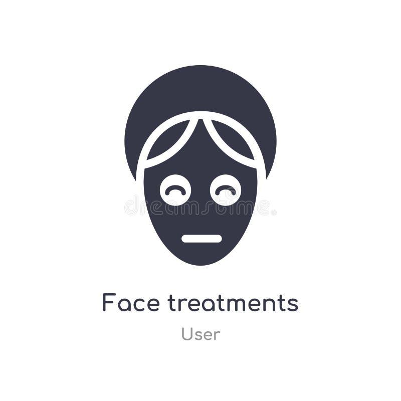 面孔治疗象 从用户汇集的被隔绝的面孔治疗象传染媒介例证 编辑可能唱标志可以是用途为 向量例证