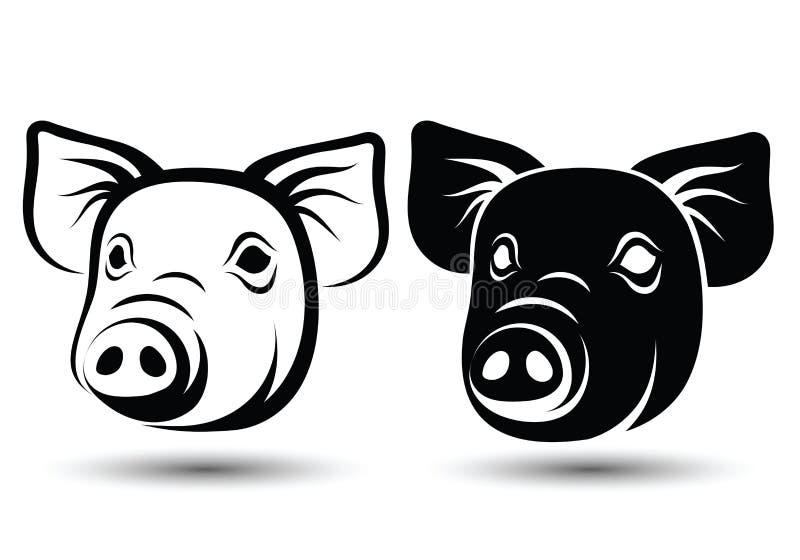 面孔猪 皇族释放例证