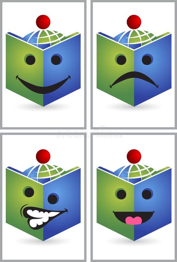面孔表示书读者商标 库存例证