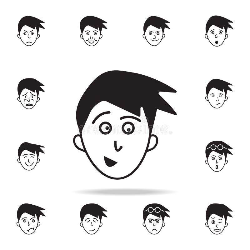 面孔象的预期 详细的套面部情感象 优质图形设计 其中一个汇集象为 皇族释放例证