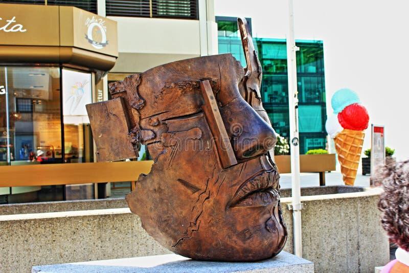 面孔雕塑瓦杜兹列支敦士登 库存图片