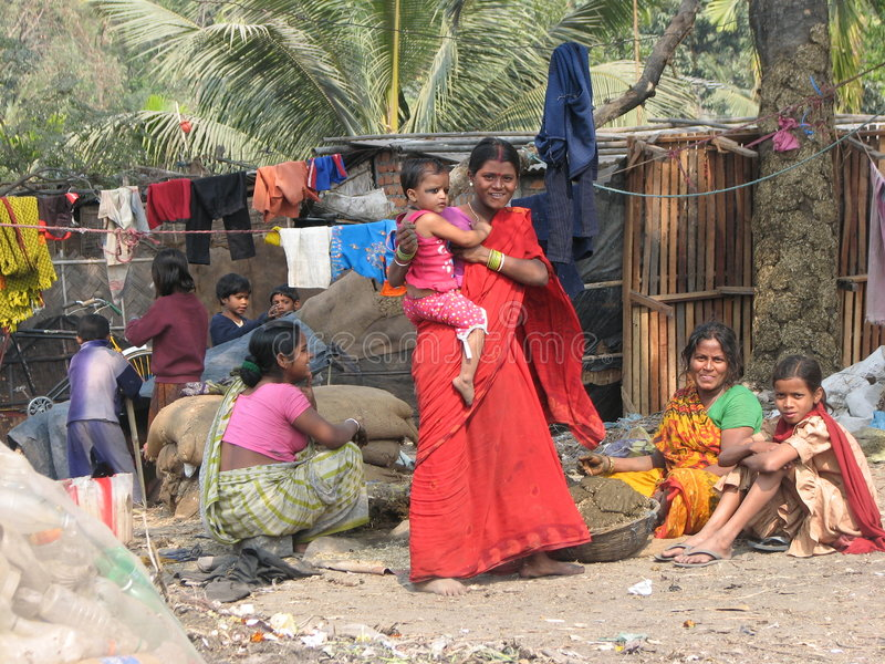 面对印度siliguri微笑 库存照片