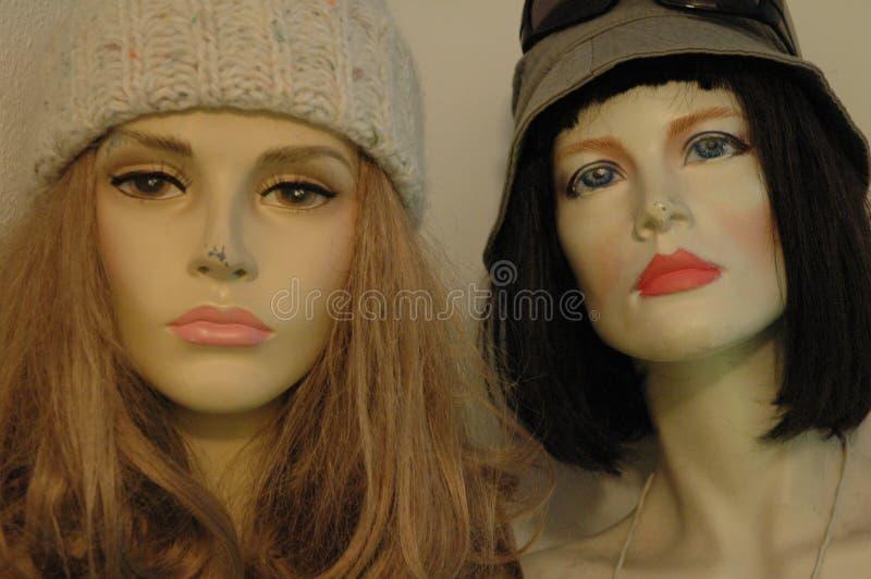 面对时装模特二 库存照片