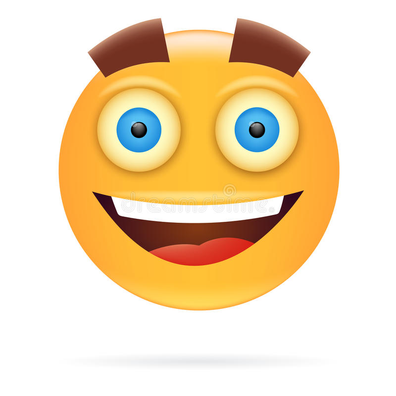 面带笑容 字符设计 象样式 愉快的面孔传染媒介illustra 皇族释放例证
