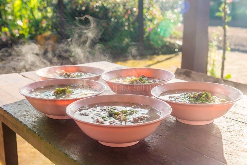 面条是老挝的地方食物 库存图片