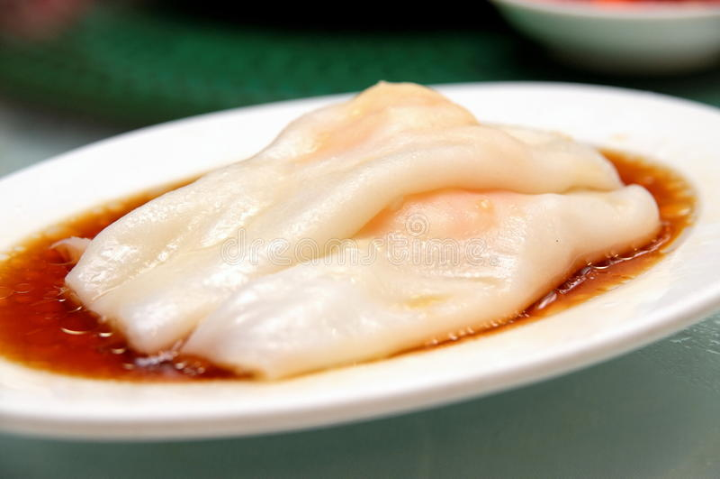 面条米滚虾 免版税图库摄影