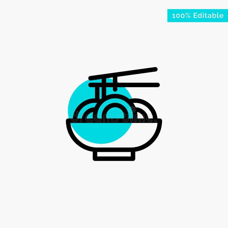 面条,食物,中国,中国绿松石聚焦圈子点传染媒介象 向量例证