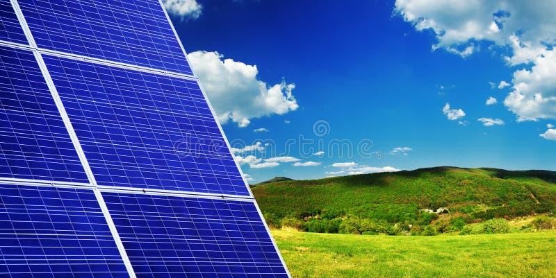 面板光致电压太阳 库存照片