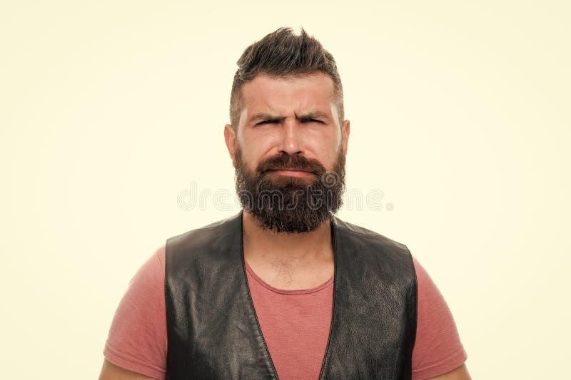 面毛治疗 有胡子残酷人的行家 时尚趋向胡子修饰 阳刚之气残酷和秀丽 免版税库存图片