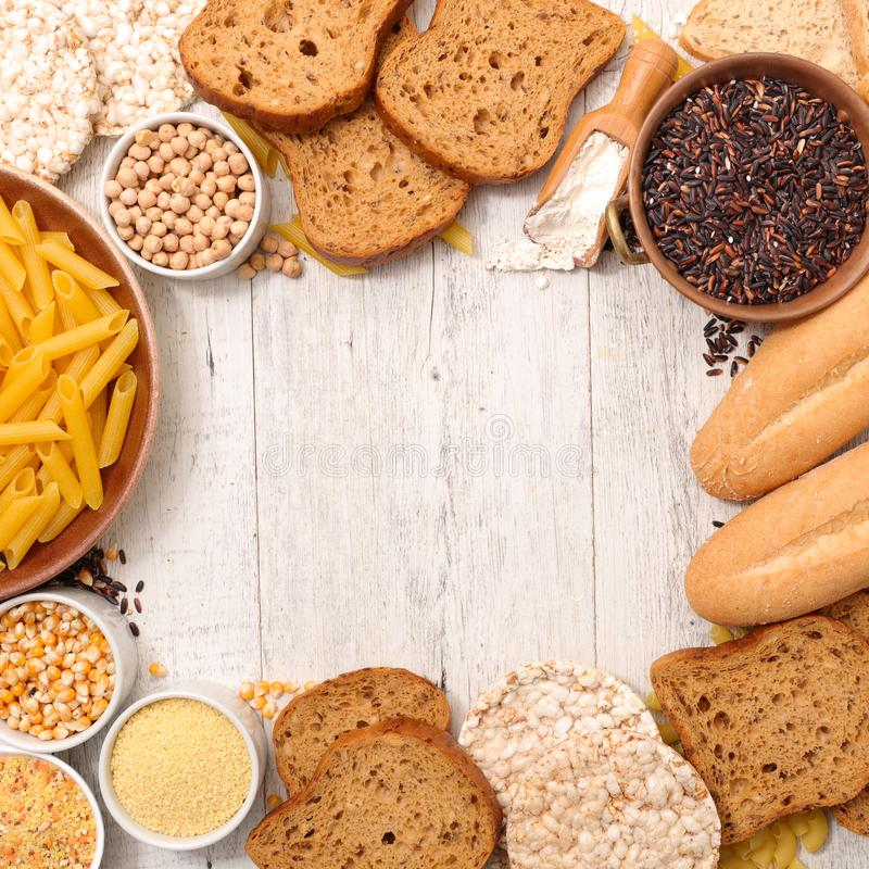 面筋释放食物 免版税库存图片
