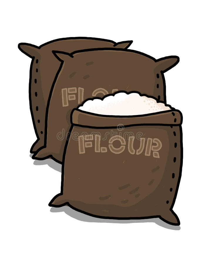 面粉例证大袋 库存图片