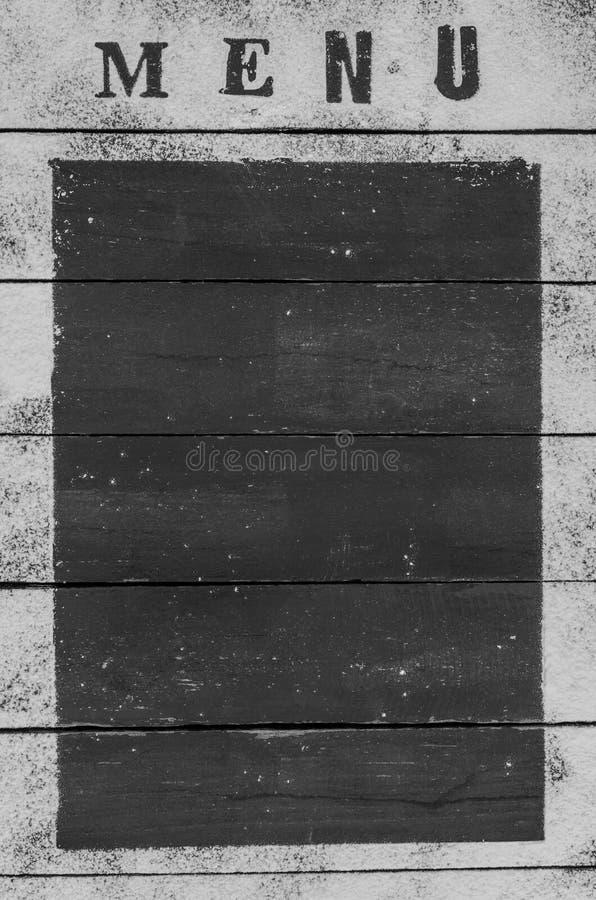 面粉菜单的题字在木背景的与文本的一个长方形框架 免版税图库摄影