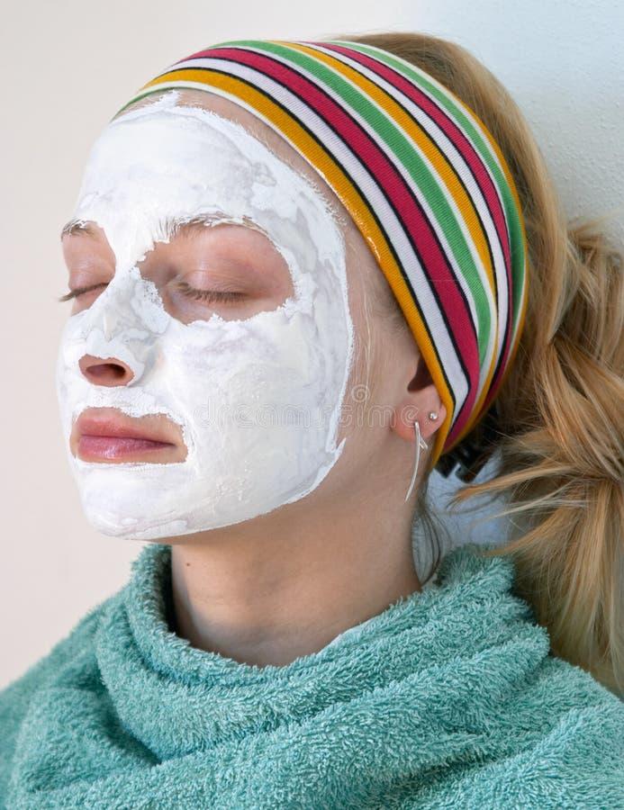 面罩佩带的妇女 免版税图库摄影