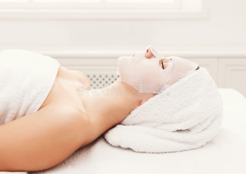面罩,温泉秀丽治疗, skincare 免版税库存图片