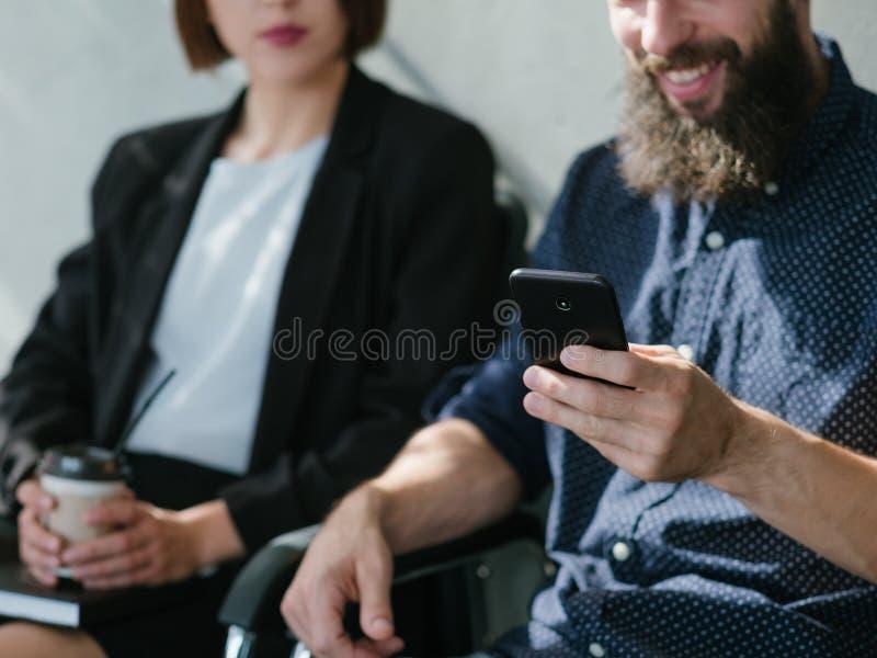 面试企业事业成长 免版税库存图片