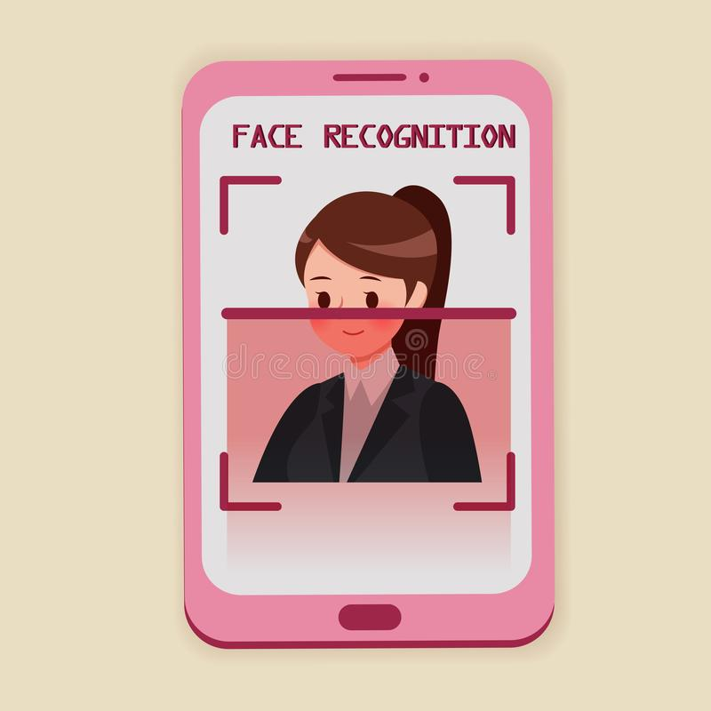 面貌识别概念 向量例证