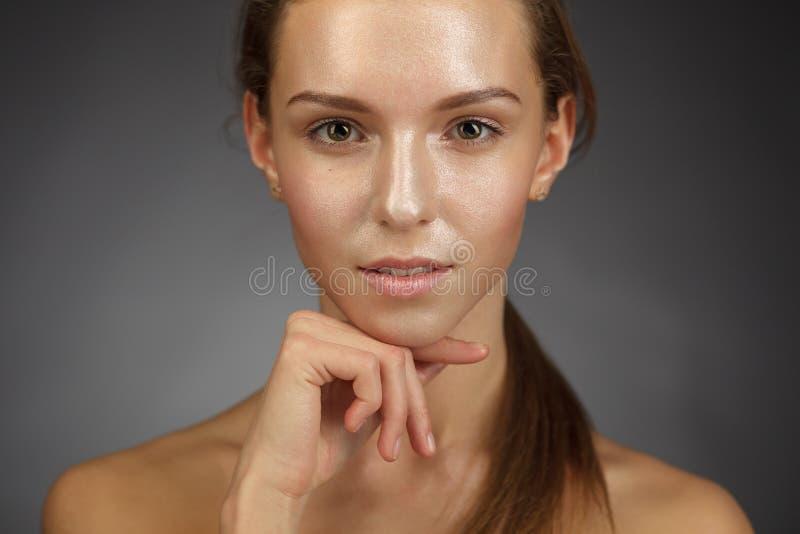 面部和化妆治疗 图库摄影
