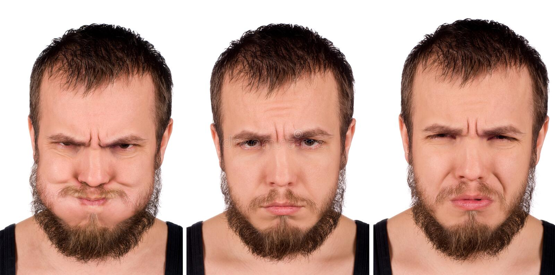 面部的表达式 免版税库存照片