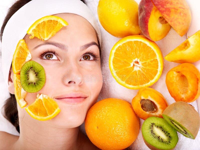面部自然果子自创的屏蔽 库存照片