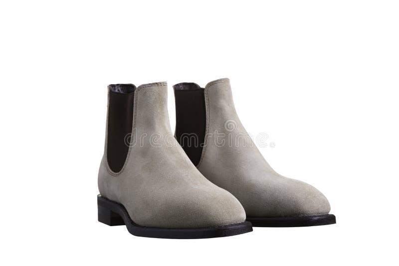 绒面革鞋类 免版税图库摄影