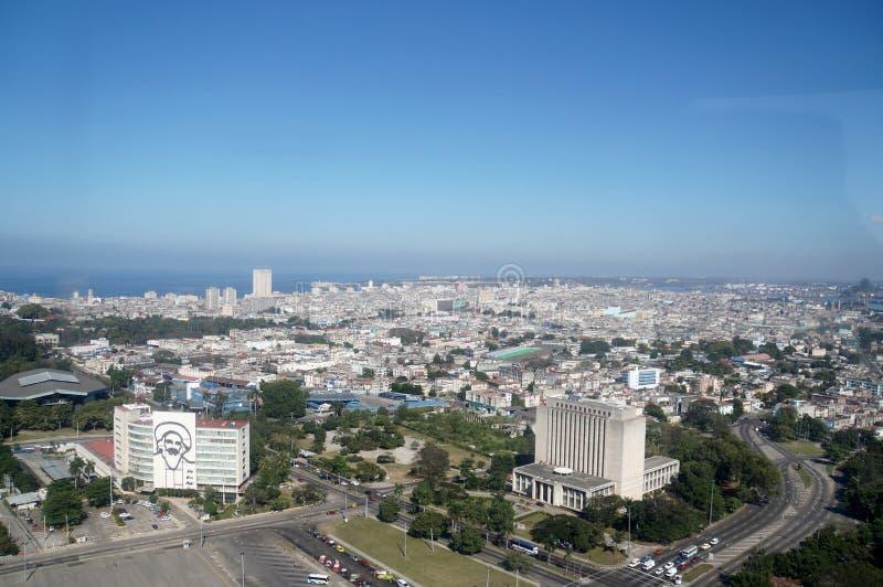 革命方形的视图,哈瓦那 免版税库存照片