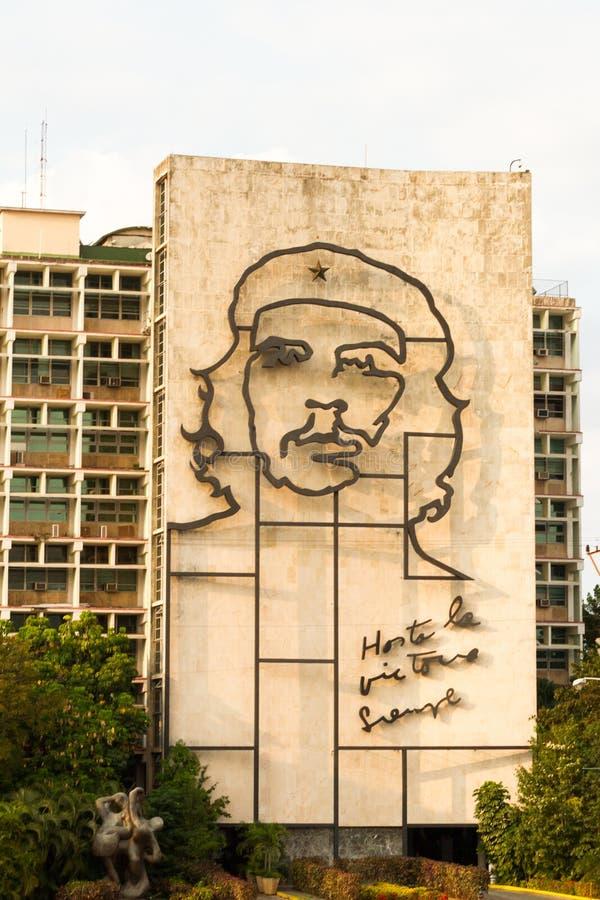 革命正方形的哈瓦那切・格瓦拉 库存照片