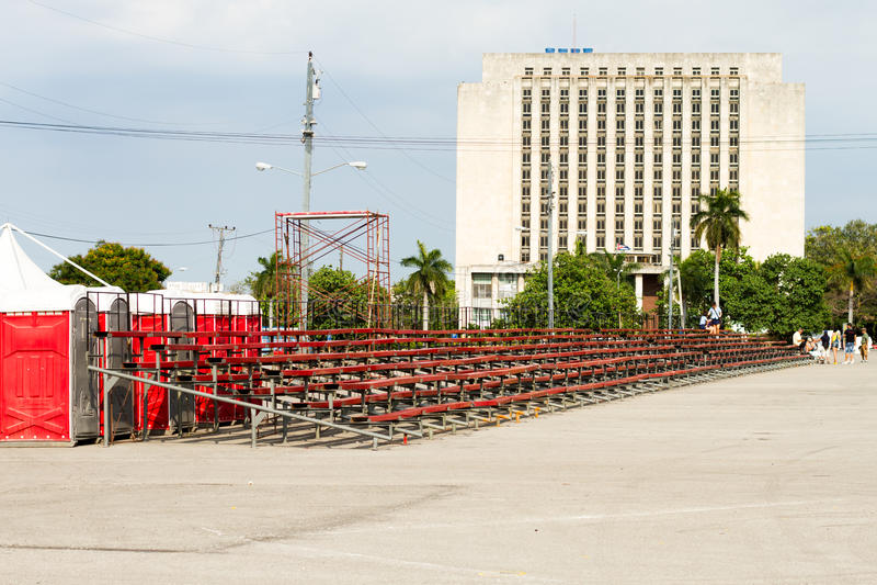革命正方形,哈瓦那,古巴 免版税库存照片