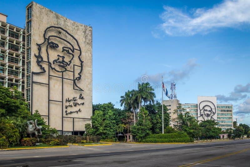 革命Square Plaza de la Revolucion -哈瓦那,古巴 库存照片