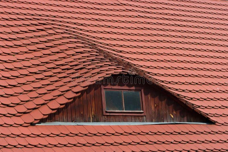 靶心屋顶视窗 库存图片