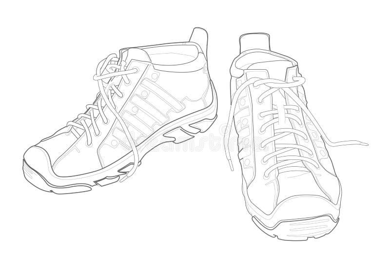 鞋子体育运动 向量例证