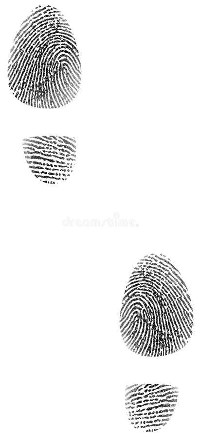 鞋子印刷品指纹 库存例证