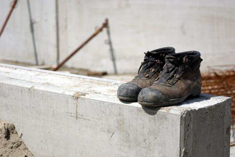 鞋子工作 免版税库存照片