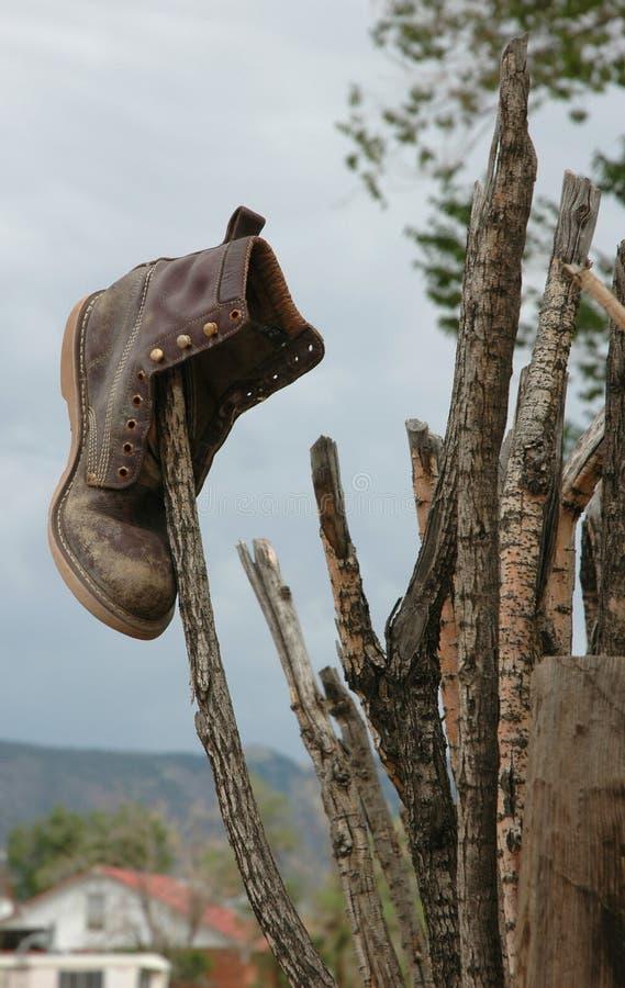 鞋子棍子 库存图片