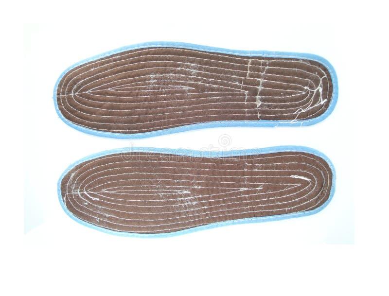黑鞋子皮鞋的内底 免版税图库摄影