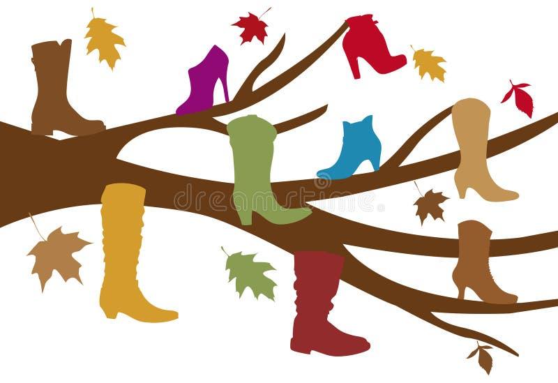 鞋子结构树 皇族释放例证