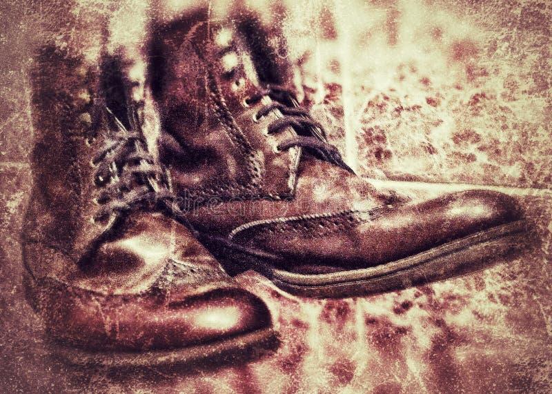 鞋子设计葡萄酒 库存照片
