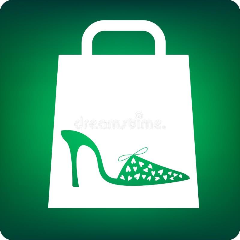 鞋子购物 向量例证