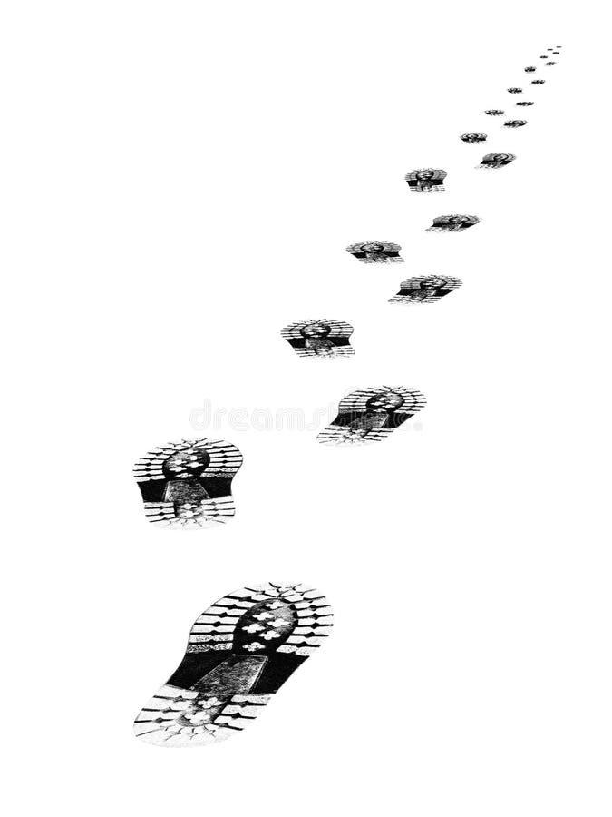 鞋子跟踪 免版税库存图片
