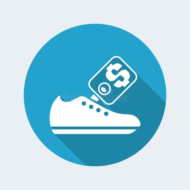 鞋子销售象 库存例证
