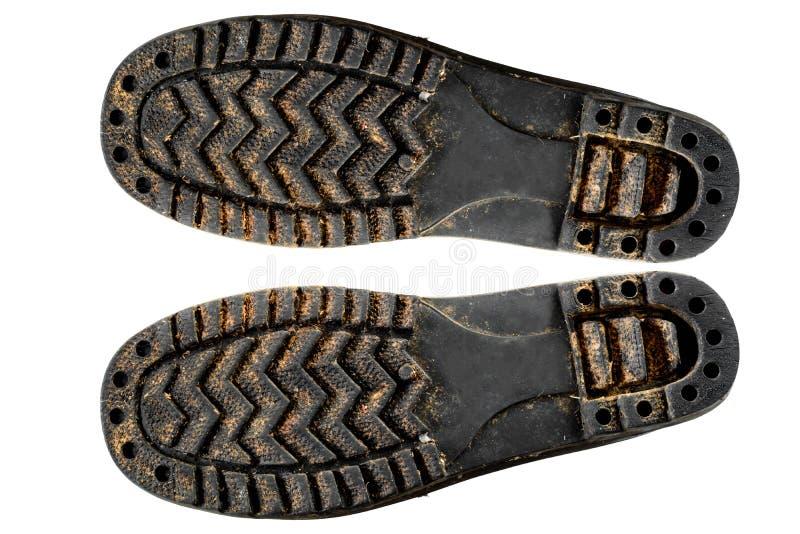 鞋子鞋底老孤立 免版税库存图片