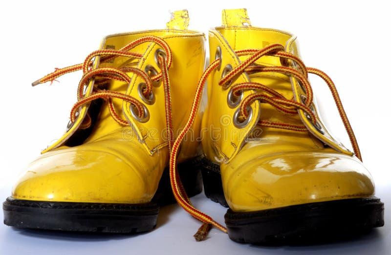 鞋子黄色 库存照片
