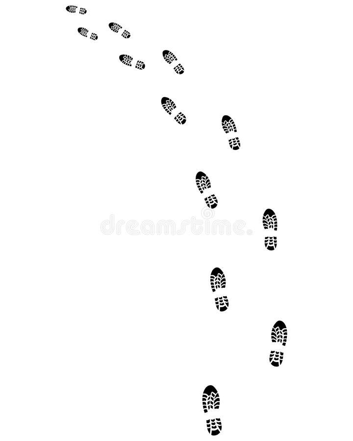 鞋子,向左转 皇族释放例证