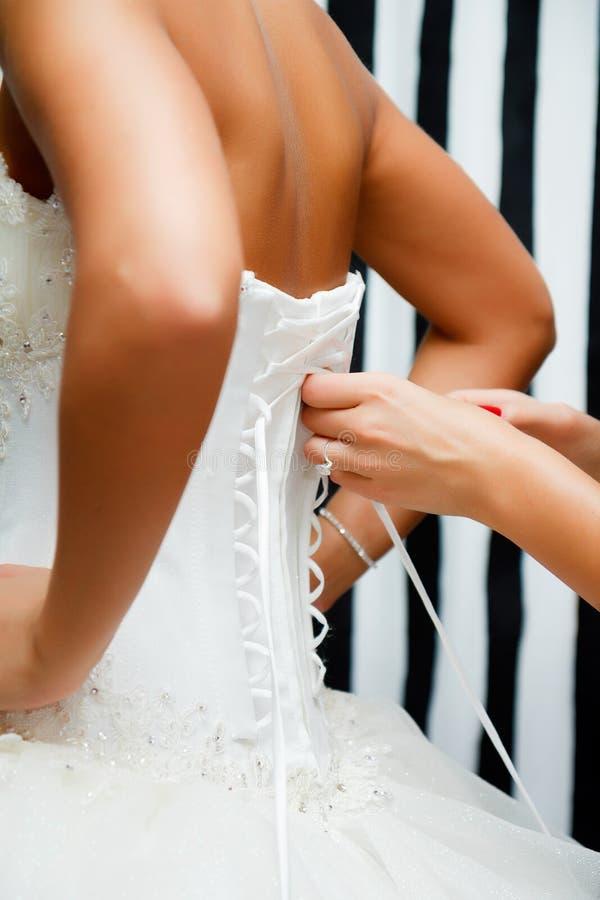 鞋带新娘束腰 免版税库存图片