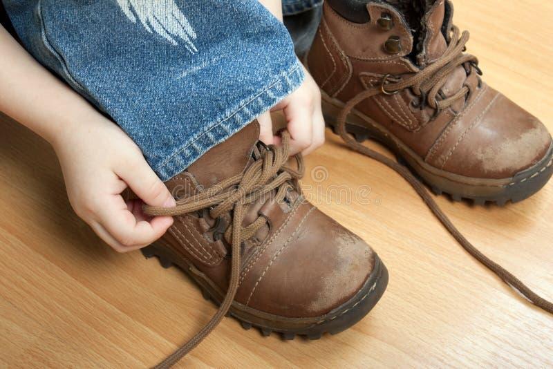 鞋带附加 免版税库存照片