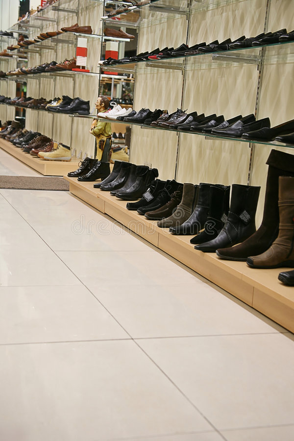 鞋店 免版税图库摄影