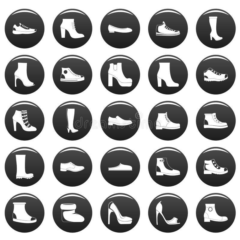 鞋类鞋子象集合vetor黑色图片