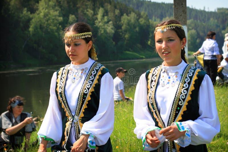 鞑靼人的女孩 库存照片