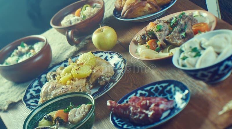 鞑靼人的烹调 免版税库存照片
