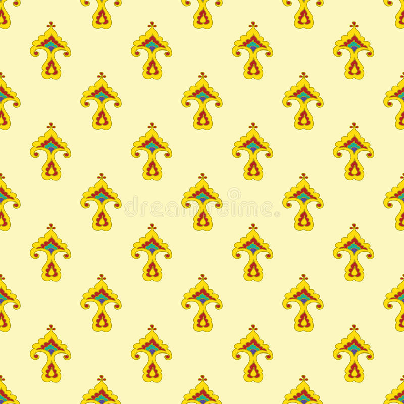 鞑靼人的风格化花纹花样 免版税库存照片